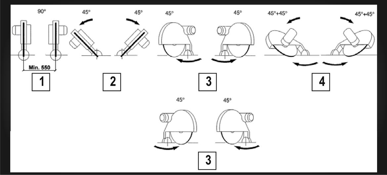 SD 16 E: Inclinazione teste